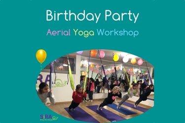 Fly Yoga Birthday Party Workshop