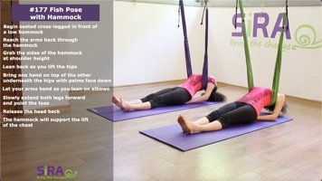 Fish Pose with Hammock – exercise #177