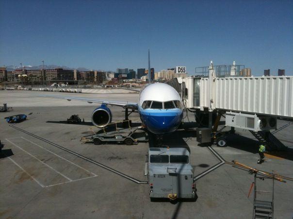 Postales del aeropuerto de Las Vegas