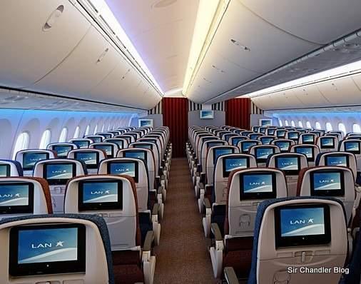 El nuevo entretenimiento a bordo de los 787 de LAN