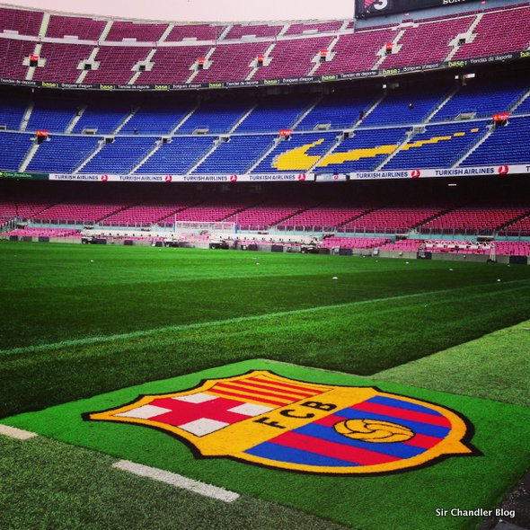 Visitando el Camp Nou en Barcelona