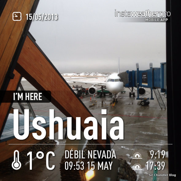 Volando a Ushuaia por LAN (crónica del vuelo)