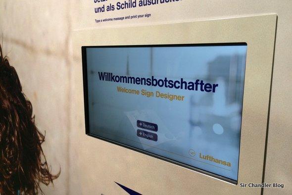 Los carteles de bienvenida en Frankfurt de Lufthansa