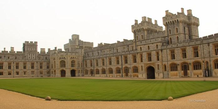 Visitando el castillo de Windsor cerca de Londres