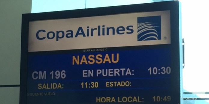 Volando a Bahamas con COPA en business