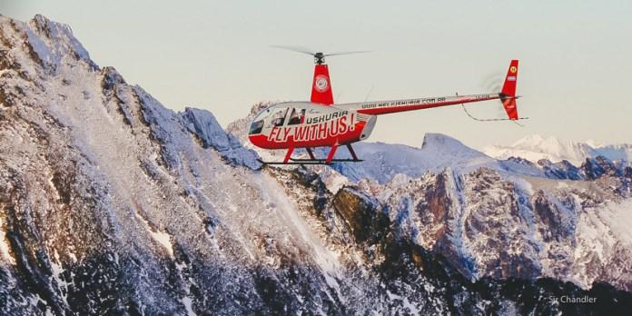 Vuelo en helicóptero en Ushuaia