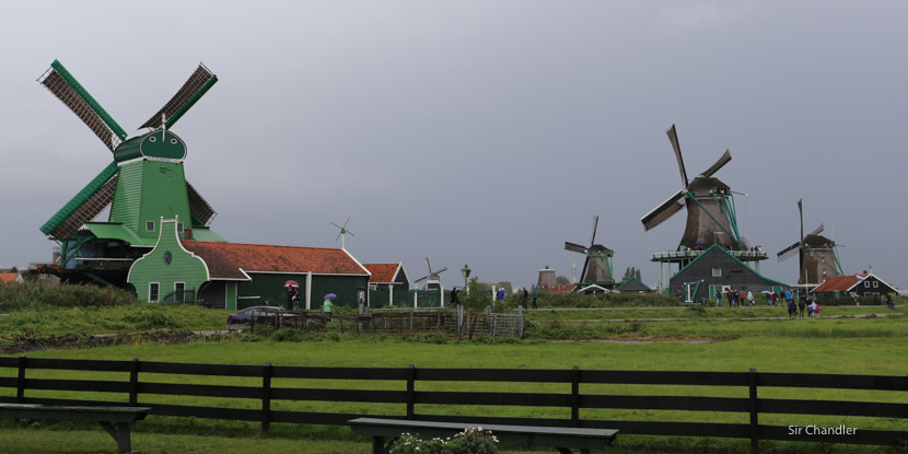 Los molinos de Zaanze Schaans (norte de Amsterdam)