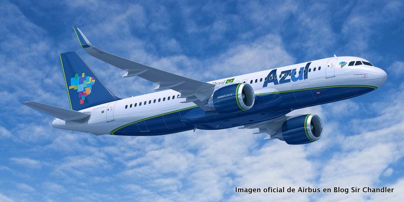 Azul llevará brazucas a Bariloche en julio con el Airbus 320 NEO