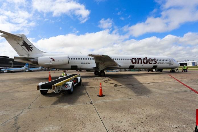 Los vuelos que hizo Andes a Malvinas