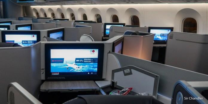 Vuelo a Toronto en la business de un Boeing 787 de Air Canada