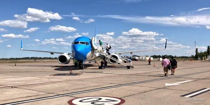 Vuelo entre San Juan y Aeroparque con Aerolíneas Argentinas (detalles del aeropuerto también)