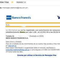 Visa falla nuevamente con los avisos de consumo en el exterior