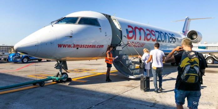 Vuelo hacia Asunción con Amaszonas Paraguay