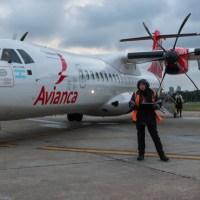 El vuelo inaugural de Avianca a Reconquista