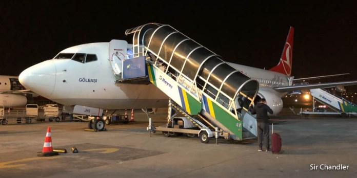 Vuelo desde Capadocia hacia Estambul con un 737 de Turkish