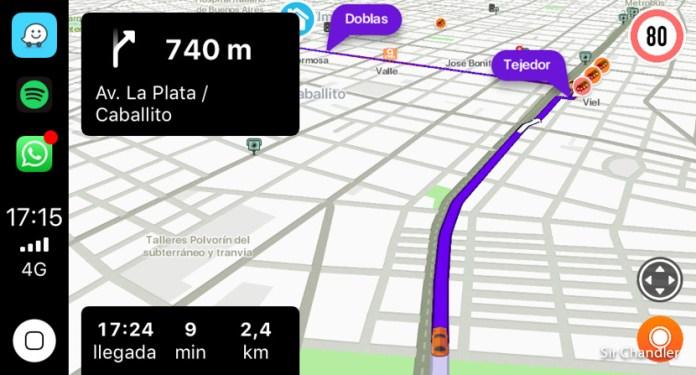 El Waze en el Carplay de los iphone ¿Mejor o peor que en los Android?