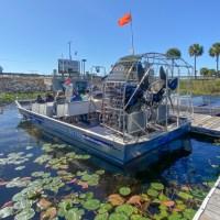 El paseo en aerodeslizador por Everglades