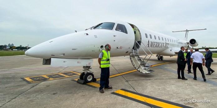 El vuelo de American Jet a Termas de Río Hondo en un Embraer 145