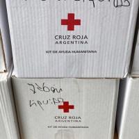 El espacio que Cruz Roja usa en Ezeiza