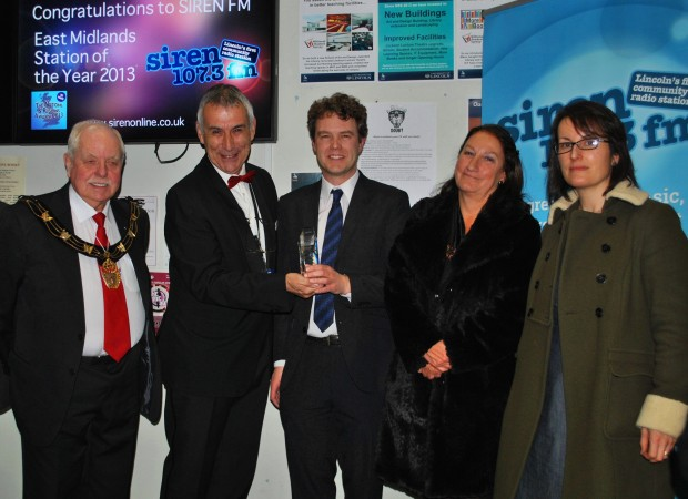 (L-R) Mayor of Lincoln Coucillor Pat Vaughan, Andrew David, Rob Persani, Professor Mary Stuart, Dr Sarah Barrow
