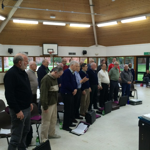 Lincoln Orpheus Male Voice Choir, in rehearsal.