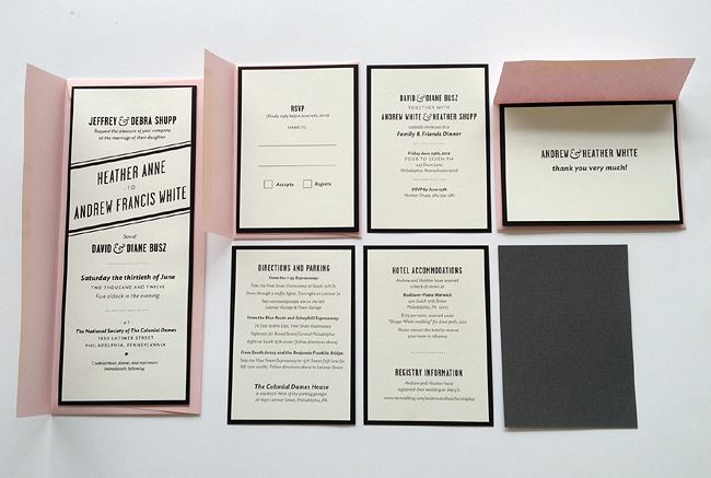 Sire Press Screen Printed Wedding Invitation Packages