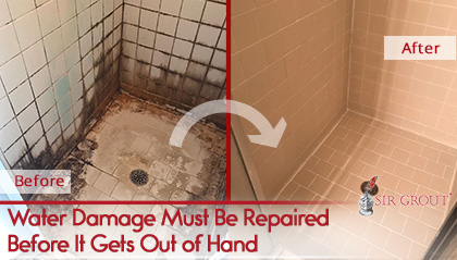 hard surfaces after water damage