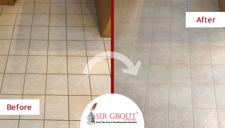 how a white tiled floor came to life