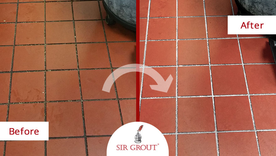 commercial kitchen quarry tile cleaning