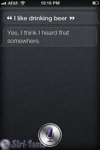 I Like Drinking Beer. Siri's Funny Response
