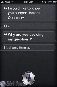 I Would Like To Know If Siri Supports Barack Obama... Siri Says....
