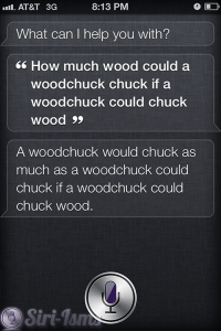 Son Of How Much Wood Would A Wood Chuck Chuck... Siri Says