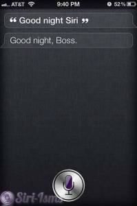 Good Night Siri ~ Siri Quotes