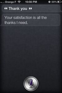 Thank you! Siris Funny Sayings