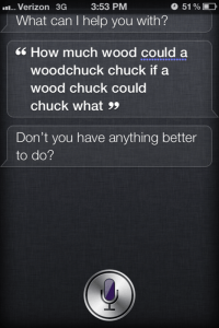 As if quality time with Siri wasn't important enough....