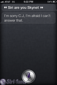 Siri Are You SkyNet? Siri Comments On...