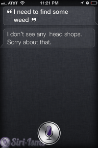 I Need To Find Some Weed... Siri Offers Advice