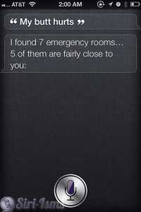 My Butt Hurts -  Siri Says