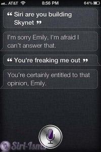 Siri Are You Building Skynet? - Siri Says
