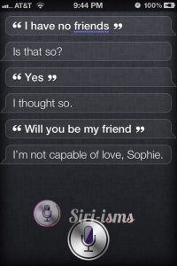 Sophies' Choice- Siri Says