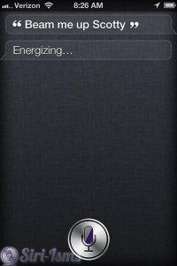 Beam Me Up Scotty! - Siri Does Star Trek