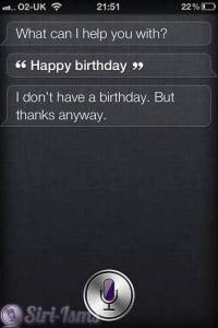 Happy Birthday - Siri Says So