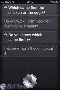 What Came First, The Chicken Or The Egg? - Siri Says