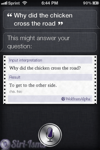 Why Did The Chicken Cross The Road? - Siri Tells Jokes