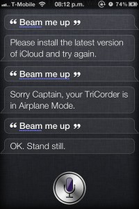 Beam Me Up! - Siri Does Star Trek Scotty