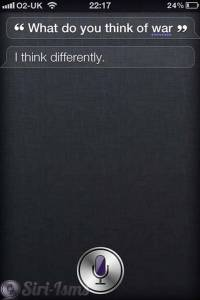What Do You Think Of War, Siri?