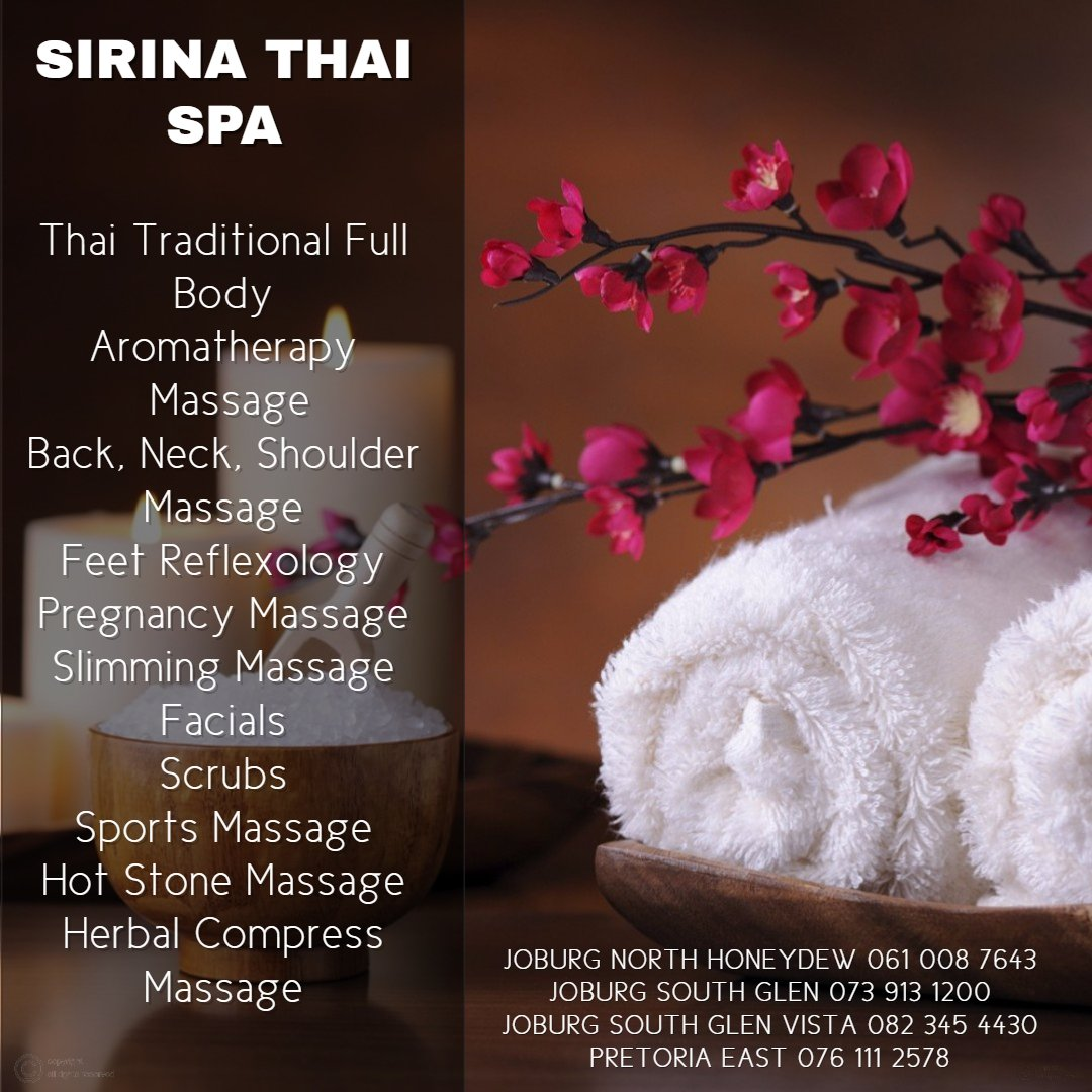 Services at Sirina Thai Spa