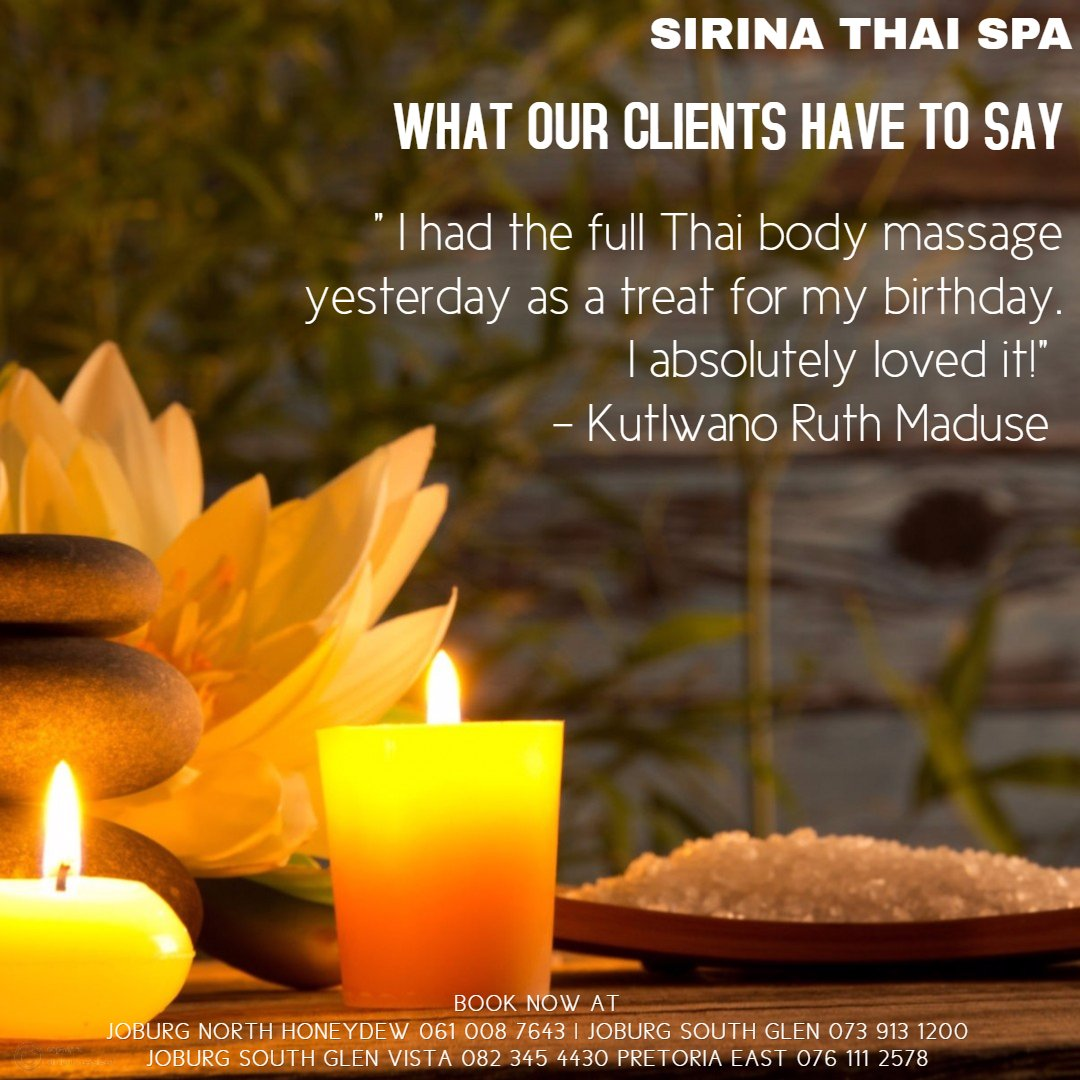 Sirina Thai Spa Happy Clients