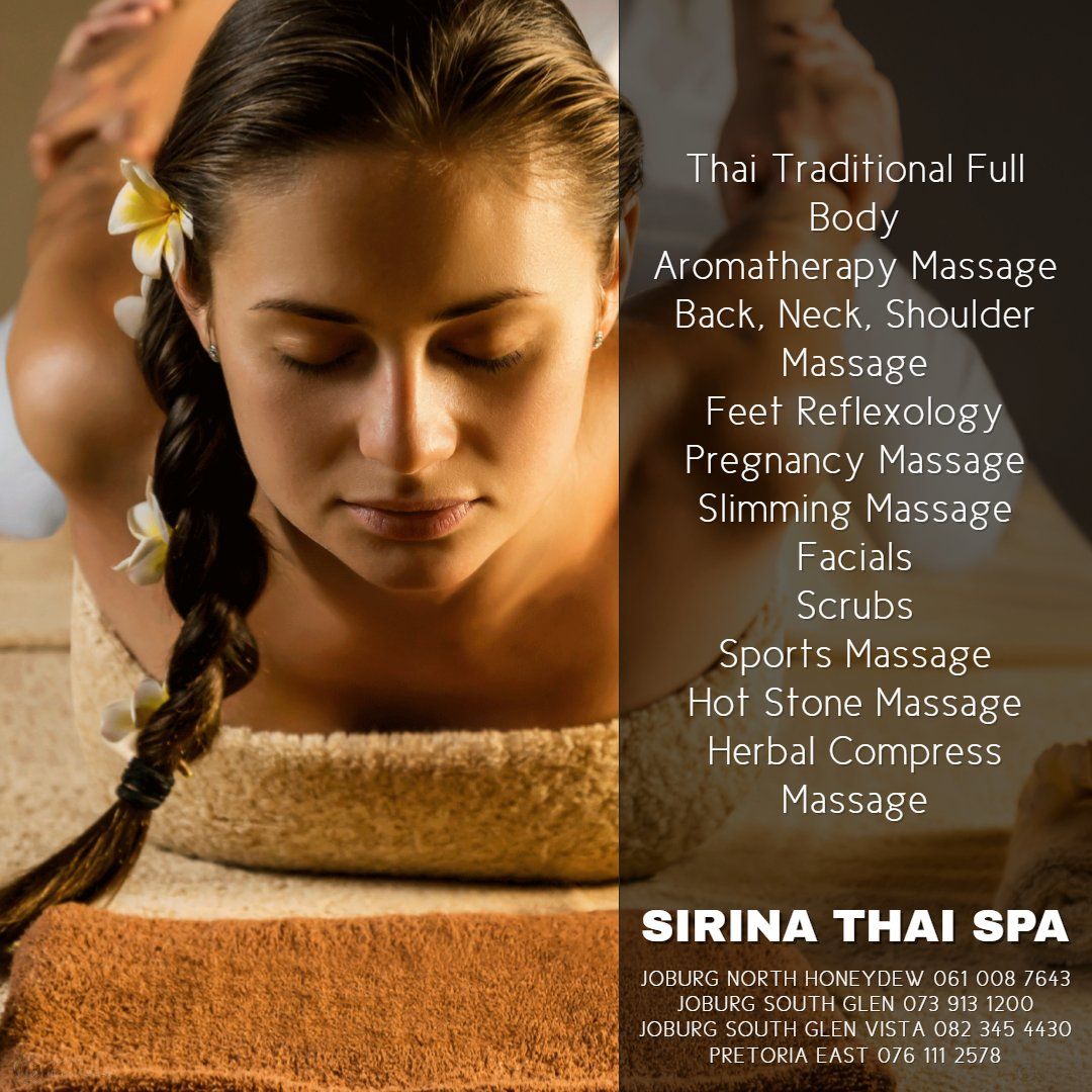 What Sirina Thai Spa Can Offer You?