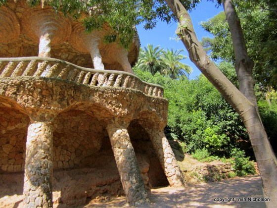 Gaudi's Arches In Parc Gruell